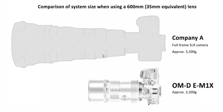 Illustration Showing Size of new Olympus Camera