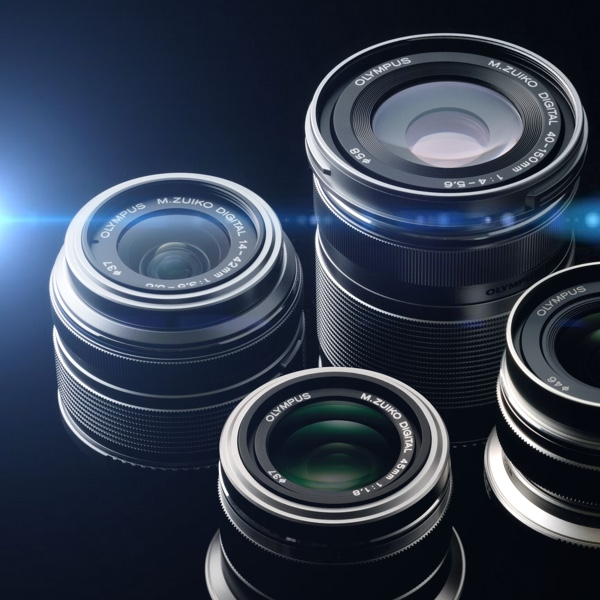 A picture of some camera lenses