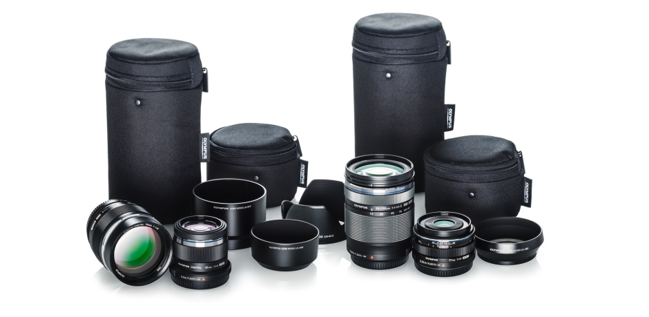 A picture of camera lenses