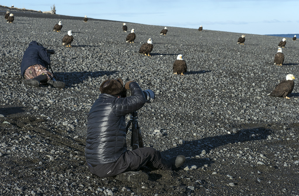 Participants Photographing Eagles With Scott Bourne