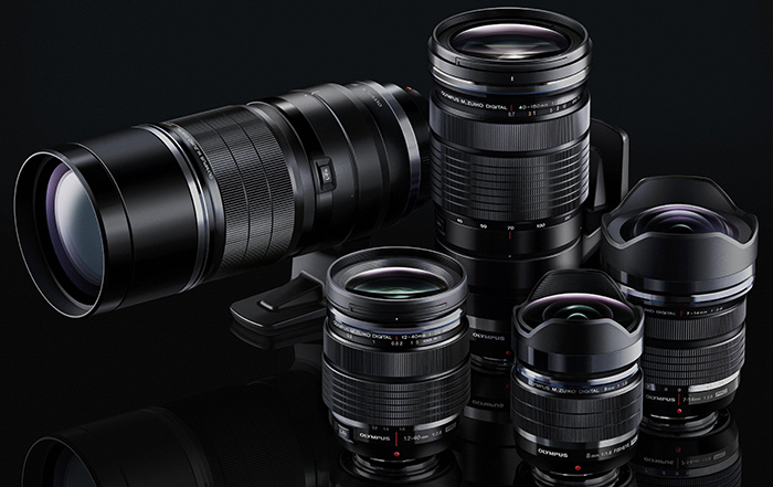 A Photo of some Olympus lenses