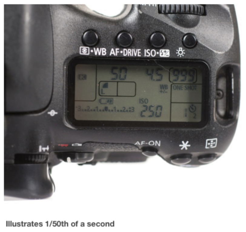 Illustration of Camera Shutter Speed