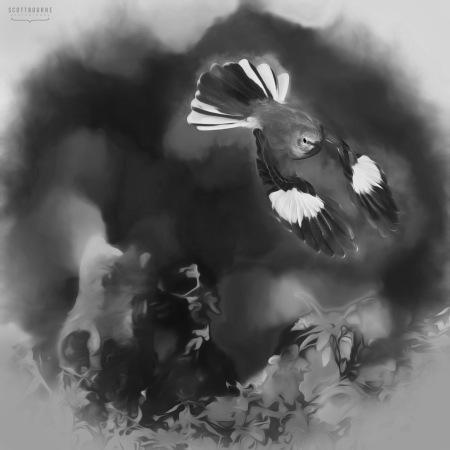 Meadowlark Photo_Painting by Scott Bourne