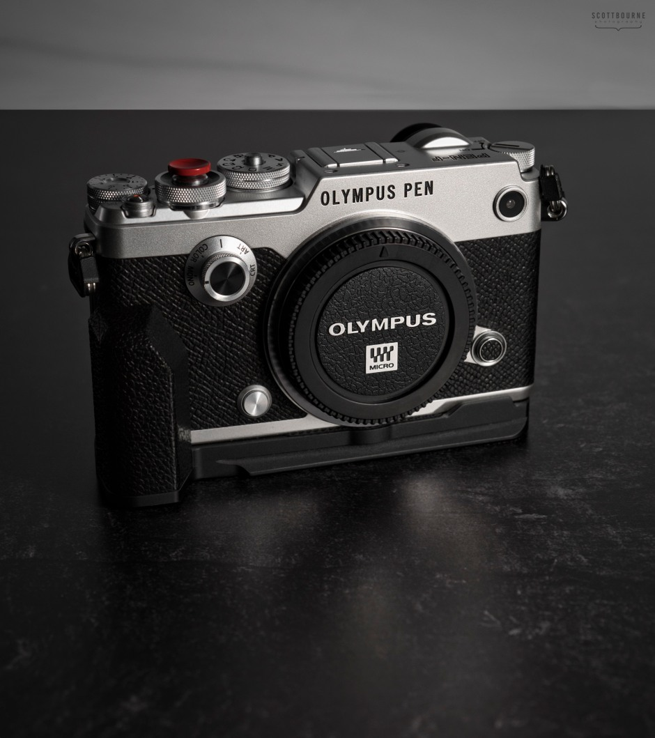 Photo of an Olympus Pen-F camera, made by Scott Bourne